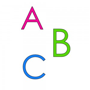 alphabet en anglais