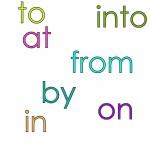 les prépositions en anglais